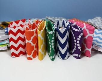 THREE Mason Jar Fabric Sleeves | Mason Jar Cover | Mason Jar Sleeve | Mason Jar Cozy | Mason Jar Cozies
