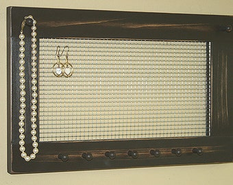 Jewelry Holder Earring Organizer Jewelry Frame Jewelry Holder Earrings Necklaces Knob