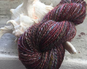 Getting lost - Handspun Twoplied Yarn Made Of Wool Merino Sparkly Nylon Fibres Mixture, Perfect For Knitting, Crocheting or Weaving, Two Ply