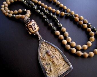 Mala Beads Buddha Mala Buddhist Mala Prayer Beads Buddha Amulet Necklace Healing Mala Yoga Mala Meditation Mala Mens Gift for Man Yoga Beads