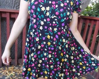 Vintage Betsey Johnson Floral Short Mini Dress