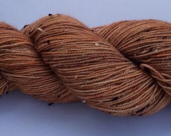 Pecan - hand dyed yarn 3.5 oz 437 yds