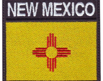 New Mexico Badge Flag Embroidered Patch