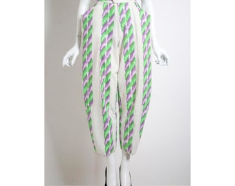 Rare vintage 1980s Fong Leng high waisted trousers pants