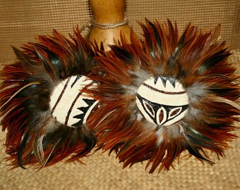 ʻUlīʻulī Uʻi ~ Beautiful Hawaiian Gourd Rattles ~ Hula Implements