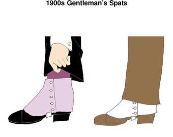 RH1007 -- 1900s Gentleman's Spats Pattern