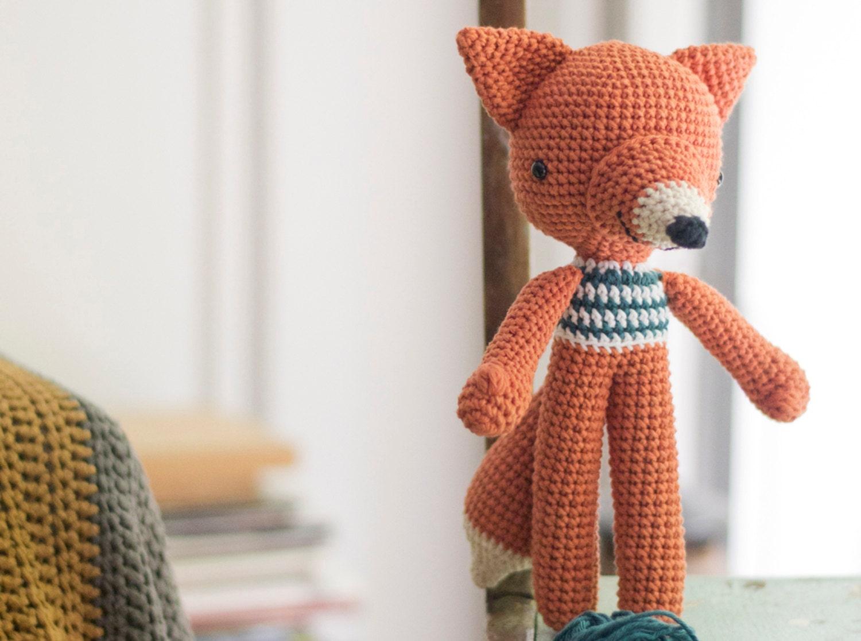 Ganchillo amigurumis Fox patrón. Lucas Fox. de PicaPau en Etsy Studio