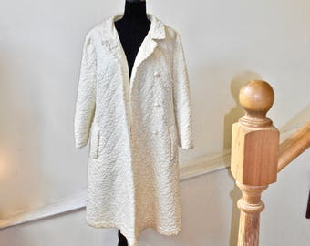 SALE 50% OFF  Stunning Quilted Silk Opera Coat - Quilted Evening Coat