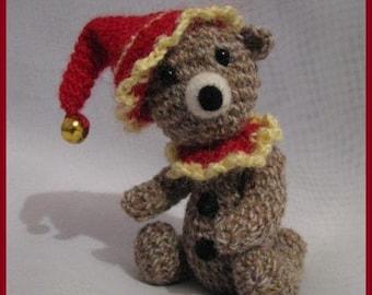 "OOAK Thread artist crochet miniature bear 4.6"" by AINA K."