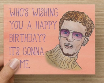 Justin Timberlake Birthday Day Card