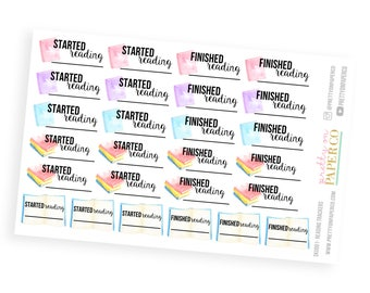 Reading Trackers Stickers - Planner Stickers