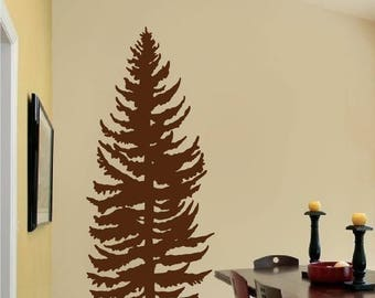 Pine Tree Wall Decal - Pine Forest Wall Art - pine tree decal - Vinyl Wall Stickers Art Home Decor