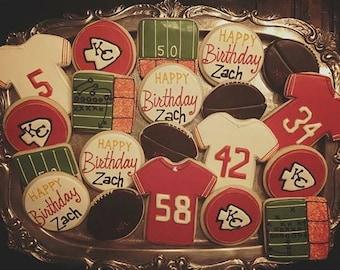 Kansas City Chiefs - Decorated Sugar Cookies - 1 Dozen