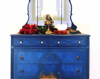 SOLD *** Antique Dresser and Mirror *** SOLD