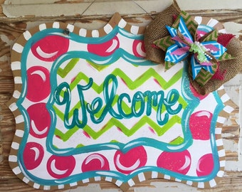 Personalized Door Hanger - Spring Door Hanger - Summer Door Hanger - Spring Door Decor - Summer Decorations - Summer Decor - Spring Wreath