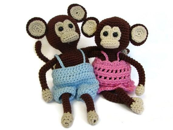Häkeln Muster Affe häkeln Muster Affe mit Hose und Kleid
