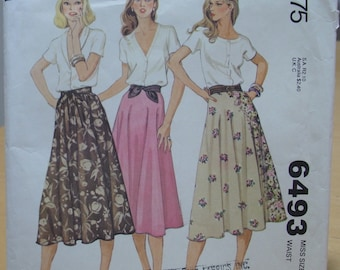 McCall's 6493 Flared skirt sewing pattern size 10 UNCUT