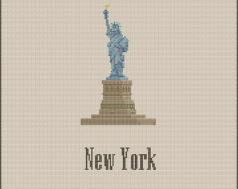 New York Statue of Liberty Cross Stitch Pattern