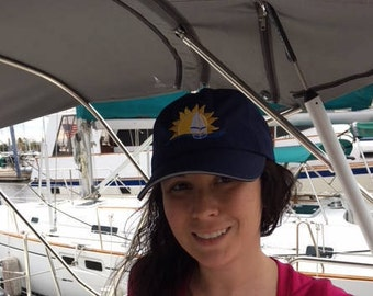 Navy Blue Sunshine Hippie Hat