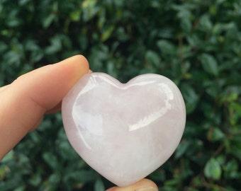 Rose Quartz Pink Heart Shaped Stone