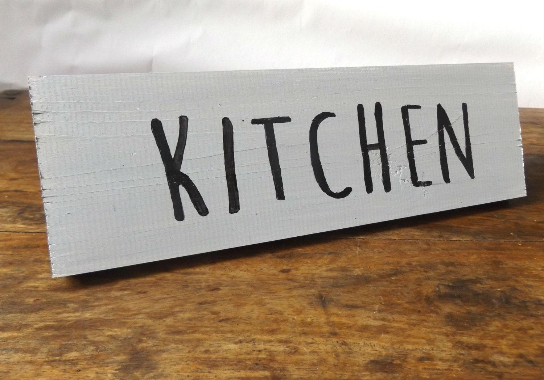 Wooden kitchen sign Grey Kitchen sign Kitchen door sign