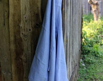 Beach towel 100% linen 40x77″- sky blue linen picnic blanket - linen sauna towel - linen bath towel sheet - spa towel - gift - shabby chick