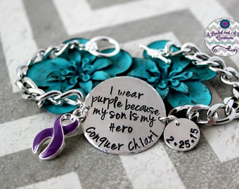 Custom Hand Stamped Chiari Malformation Awarness Bracelet