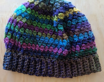 Slouchy Beanie in Stained Glass