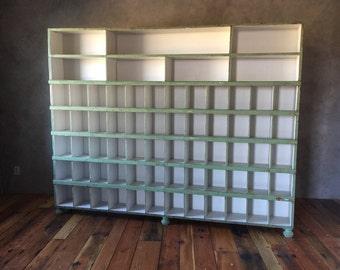 Vintage Cabinet, Hardware Store Sorter, Cubbies, Shelves, Barnwood, Weathered wood, Cubby Box, Store Display Case, Bookshelf, Bins, Oragnize