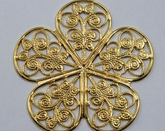 35mm Filigree #14 Gold (1 Piece)