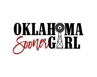 Oklahoma Sooner Girl SVG