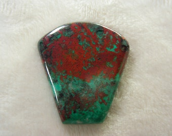 Parrot Wing Jasper modified shield cabochon