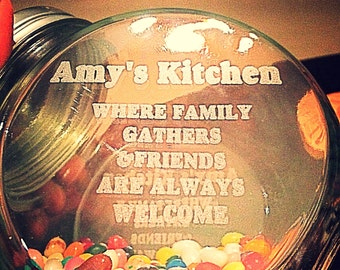 Personalized Candy Jar. Moms Kitchen