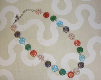 Millefiori Coin Bead necklace