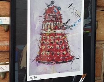 Dalek Exterminate // Red Dalek //  Dr who dalek