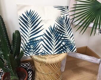 Tropical palm leaf, palm leaf pilow Cushion cover, pillow case