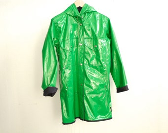 80s rain parka northwest oxford blue & green JACKET coat