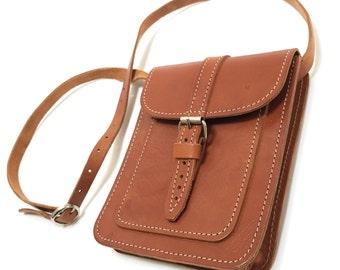 Vintage Leather Purse Bohemian Cross Body Bag