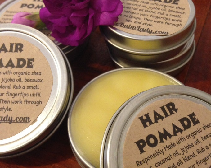 Hair Pomade peppermint scent for normal hair styling paste hair wax gel all natural organic shea butter and essential oils