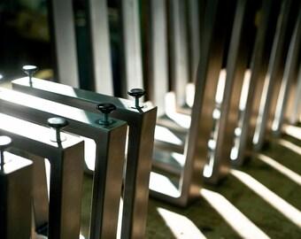 Handmade Steel Trapezoid Table Legs (set of 2 legs)
