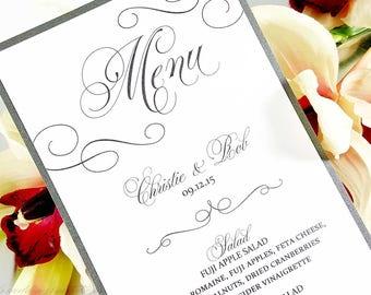 Wedding Menus - Modern Menus - Reception Menus