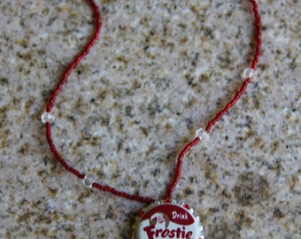 Frostie Root Beer Bottle Cap Necklace