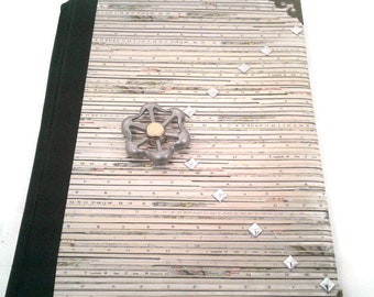 Steampunk writing Journal, lined pages, Journal, Bookmark, Diary, Notebook, gift for writers, writing journal, green, faucet, metal, book