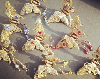 Clockwork Steampunk Butterfly hair clip. (1) clip.