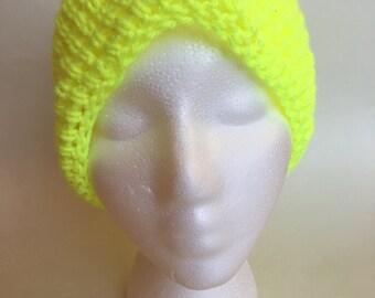 Basic Beanie Hat - Neon Yellow