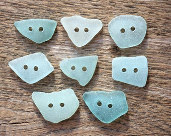 Aqua buttons set of 8 bridal buttons sea glass buttons bride buttons wedding buttons light blue buttons beading buttons turquoise buttons