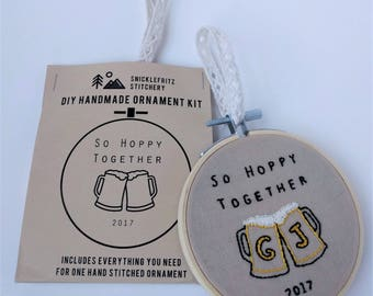 DIY Ornament Kit. Beer & Wine inspired, includes all supplies, easy to personalize, unique gift, or make it yourself for your home.