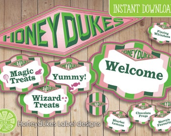 140 Harry Potter inspired Honeydukes Sweet | Candy | Food Labels