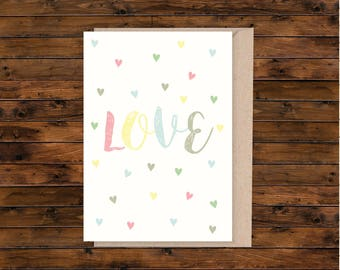 A5 card, A5 greeting card, illustrated card, blank card, card and envelope