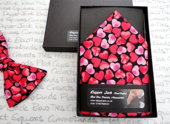 Pocket Square, Hearts pocket square, Valentines pocket square, Hearts top pocket hanky